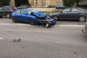 "Raudondvario plente – motociklo ir ""Mazda"" kaktomuša"