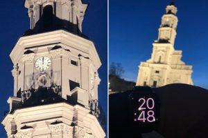 Praneša skaitytojas: sustojo Kauno rotušės laikrodis