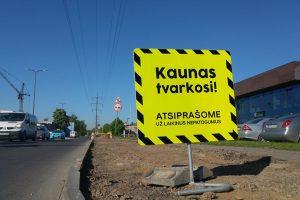 Darbai vyksta toliau: kur Kaunas tvarkosi šią savaitę?