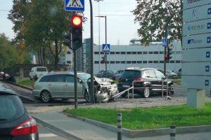 Dėl avarijos Petrašiūnuose – didžiulė eismo spūstis