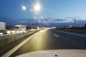 """Dėl avarijos kelyje """"Via Baltica"""" uždarytas eismas – atnaujintas"""