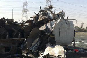 Autobusų avarija Abu Dabyje: sužeista apie pusšimtį žmonių
