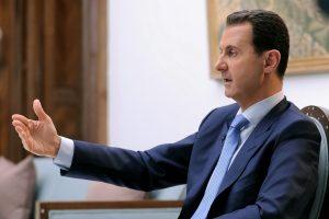 B. al-Assadas kratosi kaltės: cheminius ginklus atidavėme