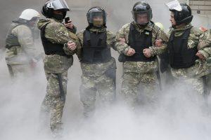 Kijeve prie JAV ambasados nugriaudėjo sprogimas