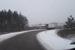 Dėl eismo nelaimės buvo uždaryta magistralės dalis