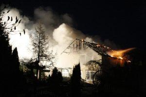 Per gaisrą Kaišiadorių rajone žuvo moteris