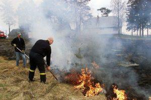 Ugniagesiai pakraupę: žolės gaisrus šį savaitgalį skaičiavo šimtais