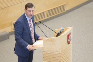 Seimas panaikino G. Steponavičiaus teisinę neliečiamybę