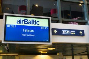 Talino oro uoste dėl girto esto paskelbtas bombos pavojus