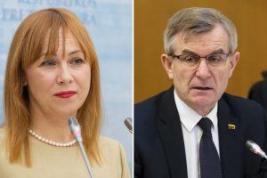 V. Pranckietis: ministrė turi atsakyti į klausimus dėl vyro verslo