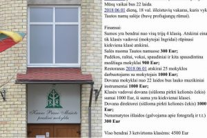 Pasipiktinimo vajus: ketvirtokų išleistuvėms – 4500 eurų? (direktorės komentaras)