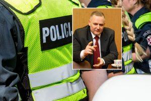 Buvęs komisaras per kratą pasipriešino policijai?