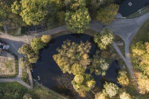 Kaip Lietuvos zoologijos sodas atrodo iš paukščio skrydžio?