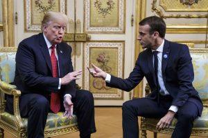 Su D. Trumpu Paryžiuje susitikęs E. Macronas: norime stiprios Europos