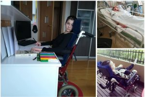 Dukrą slaugančios mamos košmaras: nevaldo pusės kūno, bet nėra neįgali?