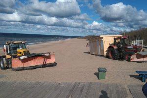 Uostamiesčio paplūdimiuose nebeliko gelbėtojų postų