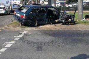 Vilniuje per automobilio avariją sužeisti 5 žmonės