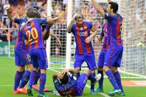 """L. Messi įvarčiai išplėšė pergalę """"Barcelona"""" komandai"""