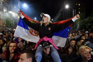Serbijoje jau trečią dieną vyksta protestai prieš išrinktąjį šalies prezidentą
