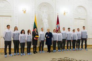 Lietuvos rinktinė išlydėta į žiemos olimpines žaidynes
