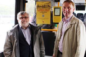 """Tarpmiestiniame autobuse """"veža"""" istorija"""