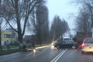 Sunkvežimio vairuotojui pritrūko atidumo