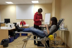 Klaipėdos savivaldybės darbuotojai neatlygintinai davė kraujo