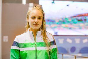 Jaunimo olimpinėse žaidynėse pakvipo plaukikės medaliu Lietuvai