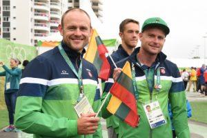 Sportininkai laukia olimpinių žaidynių atidarymo