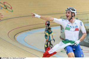 Italijos treko dviratininkas iškovojo auksą daugiakovės varžybose
