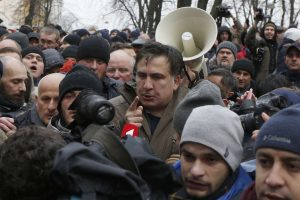 M. Saakašvilio šalininkams nepavyko užimti pastato Kijevo centre