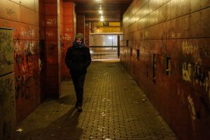 Nušvito miesto centre esantis tuneliukas