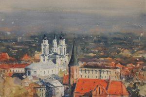 Akvarele išlietos miesto istorijos