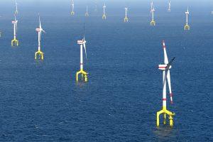 Šiaurės jūroje planuojama statyti dirbtinę salą ir tūkstančius vėjo jėgainių