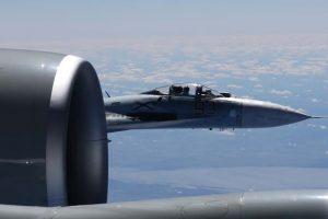 NATO naikintuvai lydėjo 16-os rusų orlaivių grupę