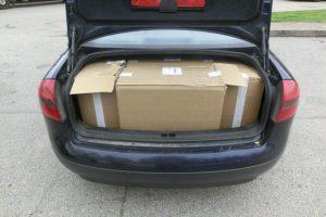 """Radinys """"Audi A6"""" bagažinėje – 5 tūkst. kontrabandinių cigarečių"""