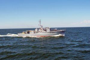 Baltijos jūroje – Lietuvos, Latvijos ir Vokietijos karinių laivų pratybos