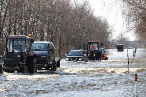 Apsemtame kelyje Šilutė-Rusnė uždraustas lengvųjų automobilių eismas