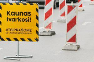Savanorių pr. ir K. Petrausko g. sankryžoje bus sustabdytas eismas