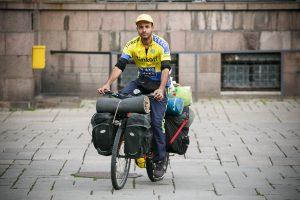 Iš Brazilijos į Kiniją keliaujantį dviratininką priglaudė kauniečiai