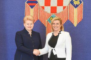 Į Lietuvą atvyksta Kroatijos prezidentė