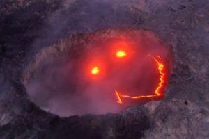 Neįtikėtina: Havajuose – besišypsantis vulkanas