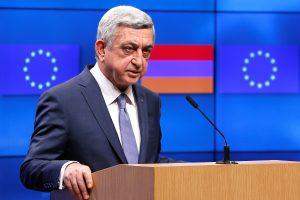 Kalnų Karabacho konfliktas: Armėnijos prezidentas ragina spausti Azerbaidžaną
