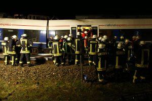 Vokietijoje susidūrus traukiniams sužeisti apie 50 žmonių