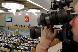 Rusija uždraudė JAV žiniasklaidos atstovams patekti į parlamentą