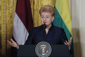 D. Grybauskaitė lankysis JAV Kongrese