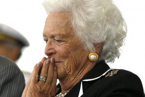 Prastėja buvusios JAV pirmosios ponios B. Bush sveikata