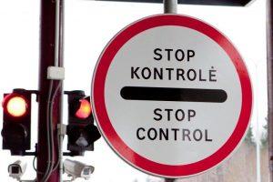 Laikinai sustabdytas eismas per Panemunės pasienio kontrolės punktą