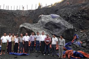Mianmare rastas milžiniškas milijonų dolerių vertės žadeito luitas