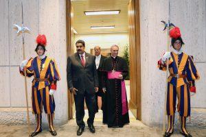 Popiežius suteikė Venesuelos prezidentui privačią audienciją